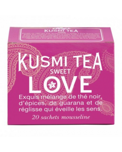 Tè Sweet Love 20 filtri in garza mussolina Kusmi Tea 44 g